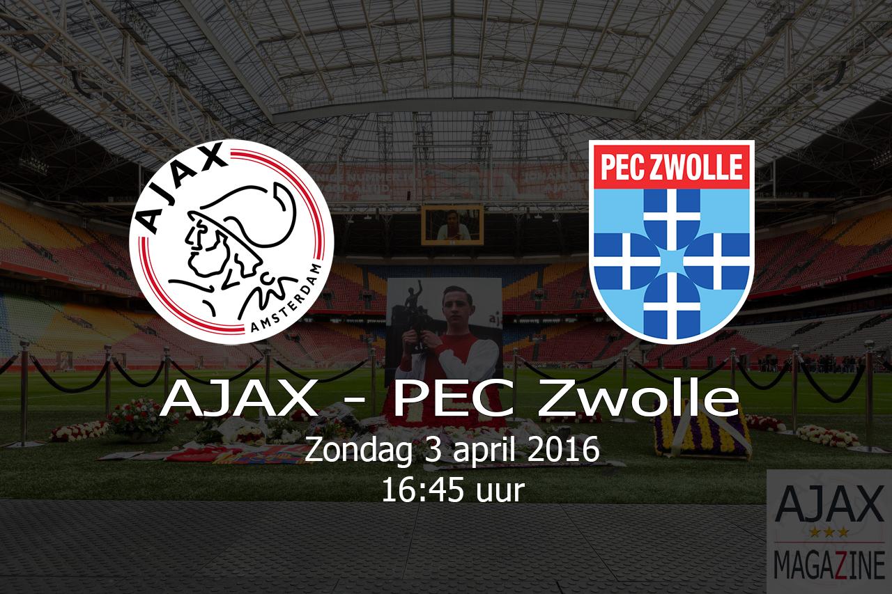 AJAX – PEC ZWOLLE – 20160403